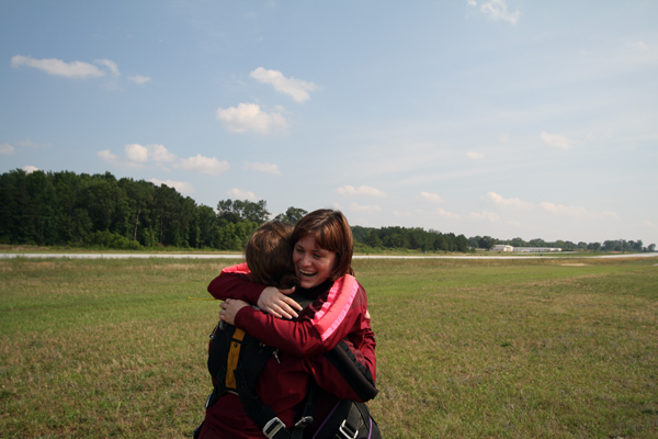 Lauren skydiving smile 2.