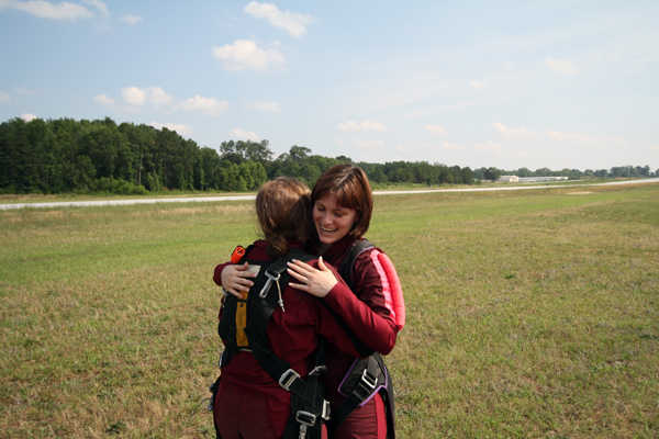 Lauren skydiving smile 3.
