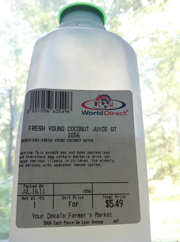 coconut water Your Dekalb Farmers Market