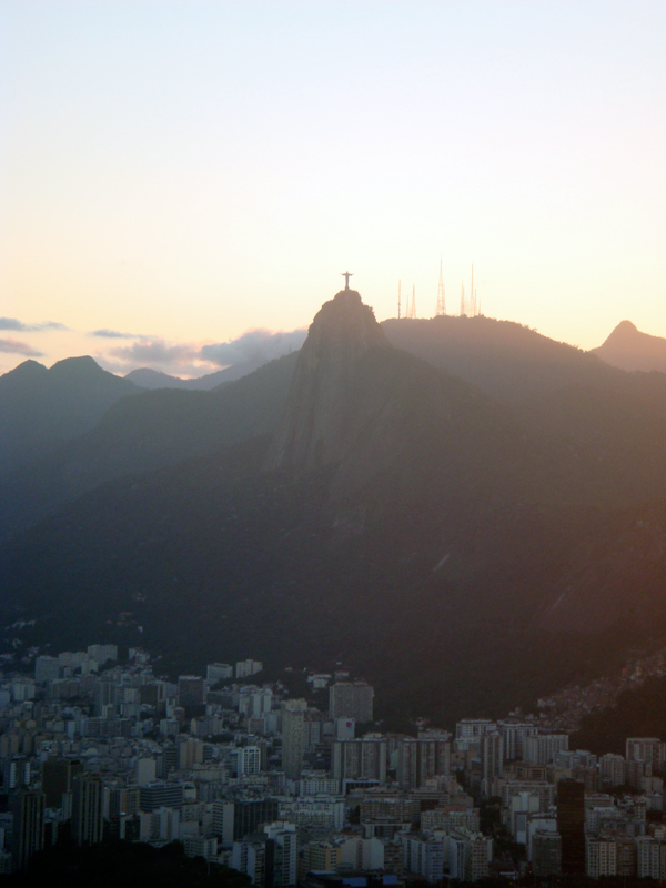 Christ the Redeemer at dusk, Rio, 2008