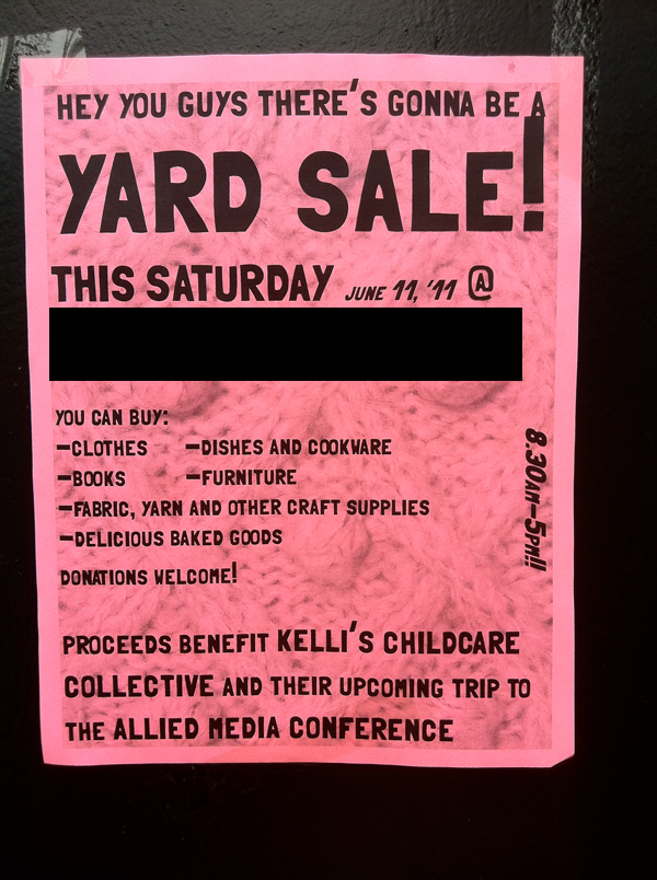 yard sale for charity